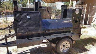 Mini Hogzilla Mobile Bbq 24 Grill 4 Barrel Smoker Trailer Food Truck Concession