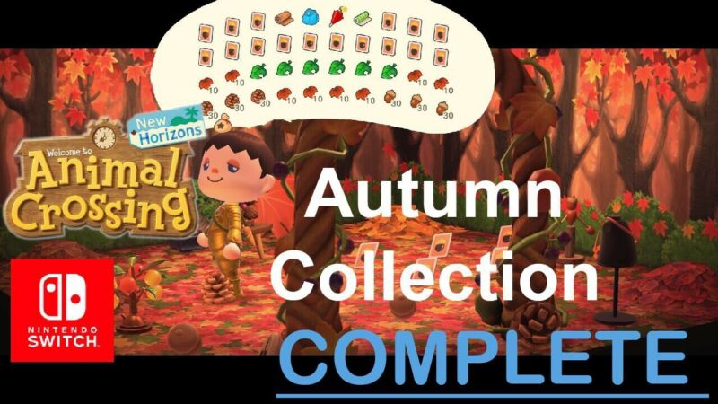 ACNH | All Autumn Fall Seasonal 🍂Pack DIYS & LOTS of Materials🔥FAST DELIVERY🔥