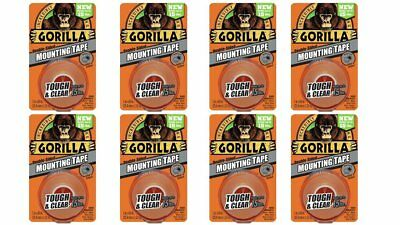 Gorilla Glue 6065001 Gorilla Mounting Tape Clear - Holds Up To 15lb - 8 Pack