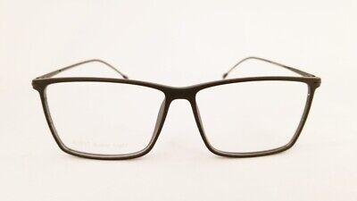 SUPER LIGHT S1717 eyeglasses Frame C2 Matte Black 55mm MEN Rx-able Light (Super Lightweight Eyeglasses)