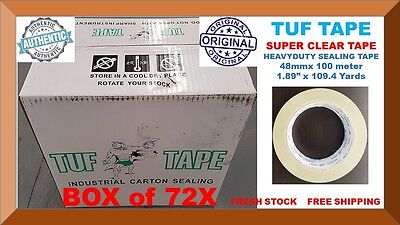 72 Sealing Packing Packaging TUF TAPE HEAVY DUTY CLEAR TAPE 2