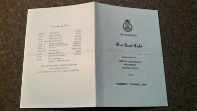 HMS COLLINGWOOD MESS GUEST NIGHT 1980 ROYAL NAVY