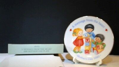 Avon 1990 Mothers Day Plate A Message From The Heart NIB Mini Collector Plate (Avon Mothers Day Plate)
