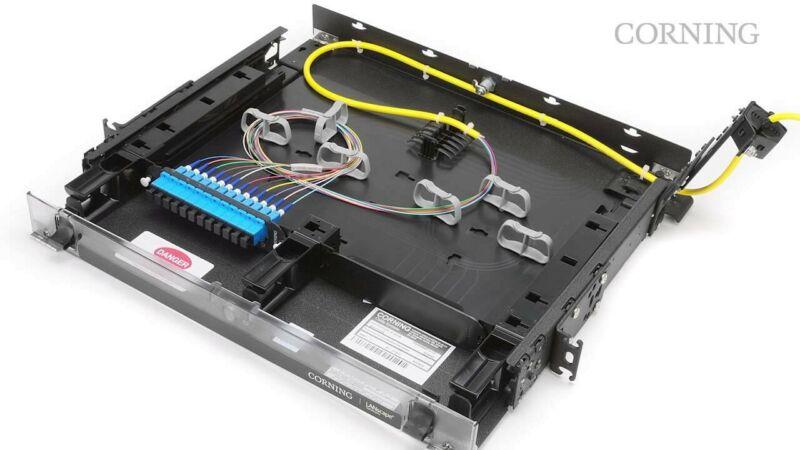 Corning CCH-01U Fiber Panel Empty 1RU / 2 Position - New