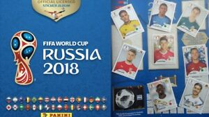 Panini World Cup Stickers Russia Soccer 2018