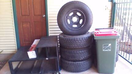 Land Cruiser wheels and Bridgestone desert duelers A/T tyres Palmerston Gungahlin Area Preview