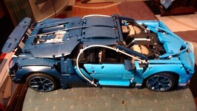 Lego Technic Bugatti Chiron (42083) COMPLETE BUILD WITHOUT BOX OR INSTRUCTIONS