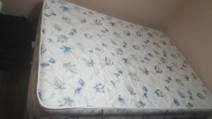 Double mattress with box in excellent condition
