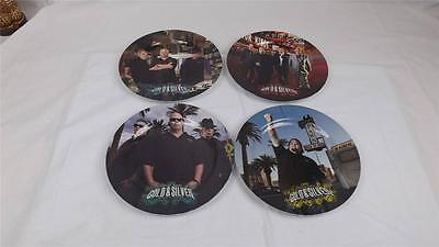 Gold & Silver Pawn Shop 4 Piece Plate Set  Corey Rick Old Man Chumlee Las Vegas