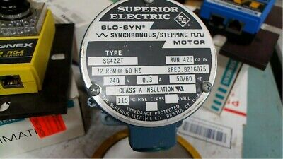 Superior Ss422t Slo-syn Synchronous Stepping Motor 72rpm 240v Free Shipping