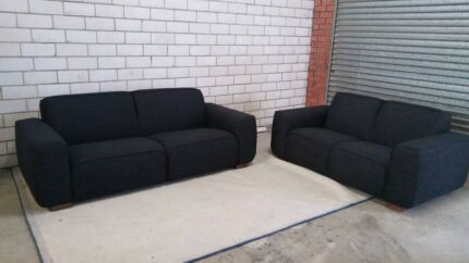 Ex display 3 and 2 Fabric  sofa lounges