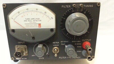 Tuned Amplifier And Null Detector Type 1232-a Serial 241 As Is