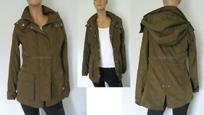 New Abercrombie &Fitch Hood Jacket Coat /Water Resistant- Olive -Women S / Small, used for sale  Shipping to Canada