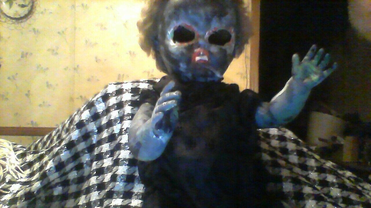 Haunted Vampire Zombie Baby Doll - $39.95