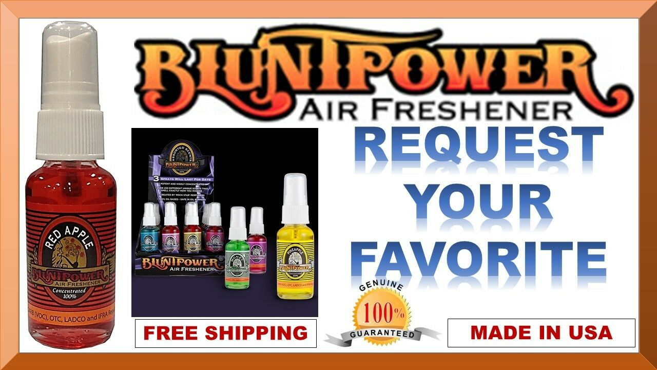 BluntPower 100% Concentrated Air Fresheners 60+ PICK ANY 4
