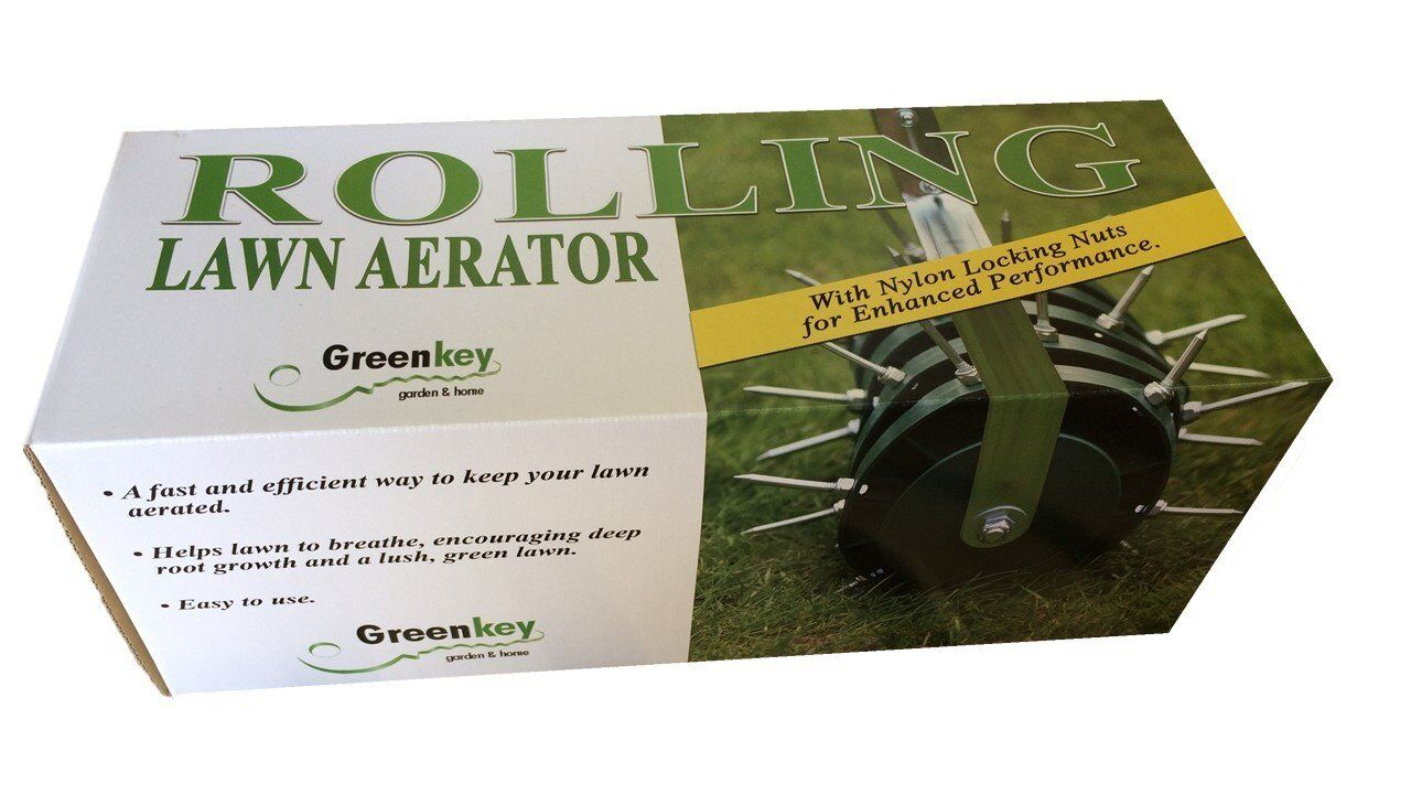 Quick Setup Rolling Lawn Aerator Greenkey Garden and Home Lt