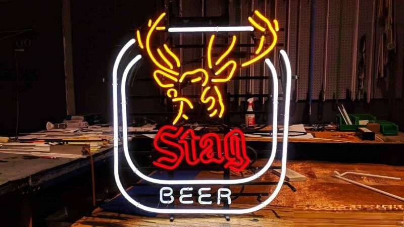 "New Stag Beer Deer B Light Lamp Neon Sign 24""x20"""