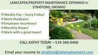 Landscaper/Property Maintenance Opening – APPLY NOW!