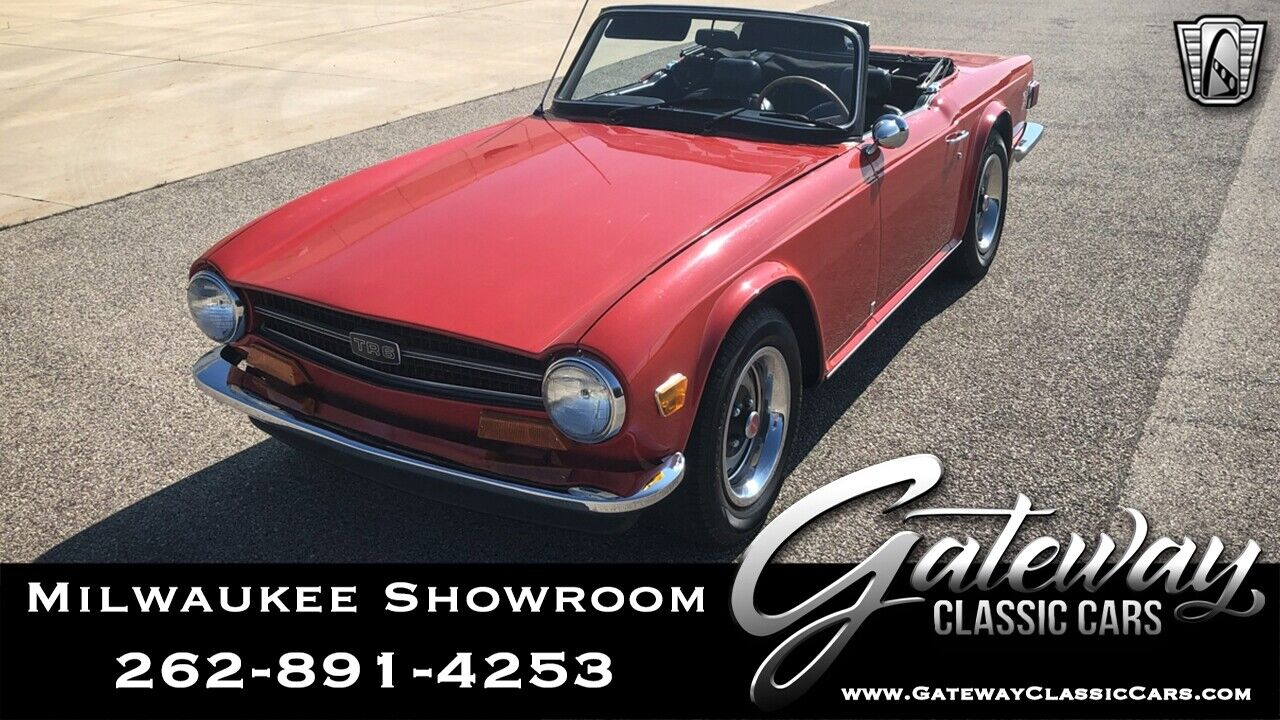 1973 Triumph TR-6  Red 1973 Triumph TR6 Coupe Inline 6 4 Speed Manual Available Now!