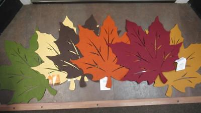 Fall Thanksgiving Placemats Felt Leaf Cut Outs 6 Colors Available UPICK - Fall Cut Outs
