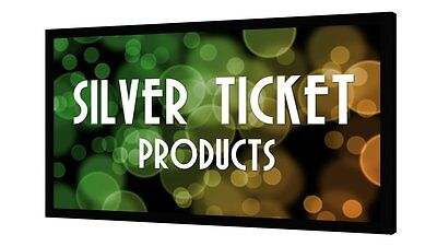 "STR-169120 Silver Ticket 120"" Fixed Frame 16:9 Projector Screen White Material"