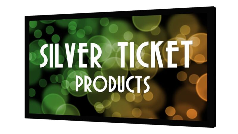 """STR-169120 Silver Ticket 120"""" Fixed Frame 16:9 Projector Screen White Material"""
