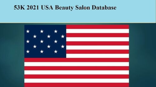 53K USA  Beauty Salon 2021 Latest Email Database Sales Leads list Marketing