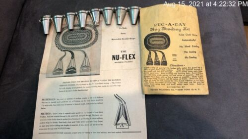 Nu-Flex Rug-a-Day Braided Rug Lacers w/Instructions Henry Seligman Lot of 9