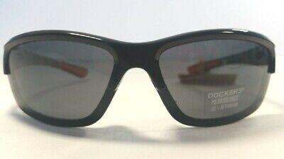 Dockers Sunglasses Men's Black Wrap with Camo Details (Dockers Black Sunglasses)