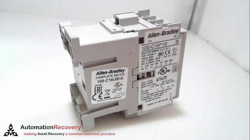 Allen Bradley 100-c16ub10 Series B, Iec Contactor, New* #271543
