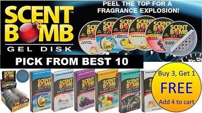 (BUY 3, GET 1 FREE) SCENT BOMB Powerful Long Lasting BEST GEL DISK Air