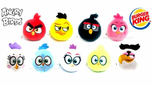 NEW 3 Burger King  ANGRY BIRDS Premiums RED, CHUCK,& SILVER!  (2021)