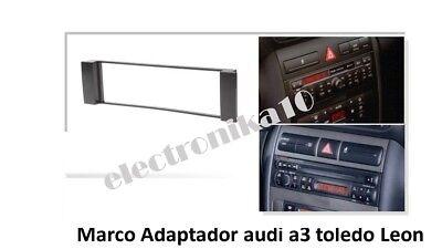 Marco Soporte auto-radio Seat Toledo Leon Audi A-3 (sin adaptador de antena) segunda mano  Embacar hacia Argentina