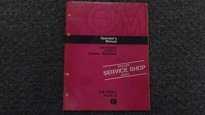 John Deere Jd 450c Crawler Bulldozer Dozer Operator Maintenance Manual Omt50941
