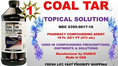 Humco Coal Tar Topical Solution 20  Pharmaceutical Compounding Agent 16Oz 08 20