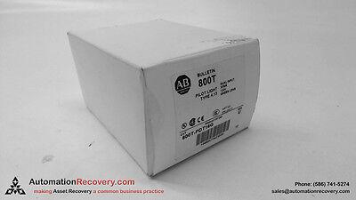 Allen Bradley 800t-pdt16g Series U Pilot Light Type 4 13 Dual Input New 117477