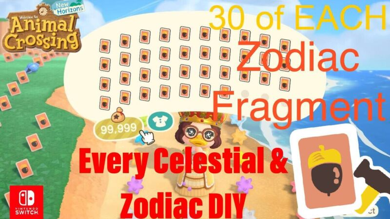 ACNH | Celeste/Zodiac ULTIMATE PACK & All Star Fragments 👑🔥FAST DELIVERY🔥
