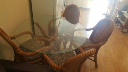 Glass Round Dining Table With Chairs 25000 Osborne Park
