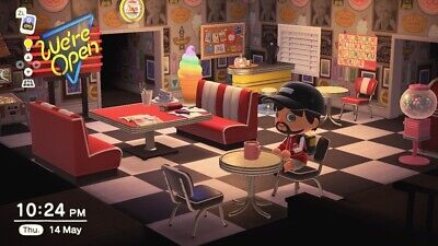 34 piece Diner plus 2 million bells Animal Crossing New Horizons