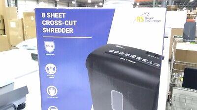 Royal Sovereign 8 Sheet Manual Cross-cut Shredder Rds-15c8