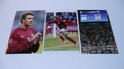 ENGLAND v ARGENTINA 2002 FIFA WORLD CUP FINALS DAVID BECKHAM PHOTOGRAPH SET