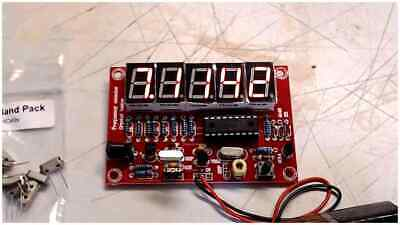 Frequency Counter Meter 1hz-50mhz Completely Assembled............... Usa Seller
