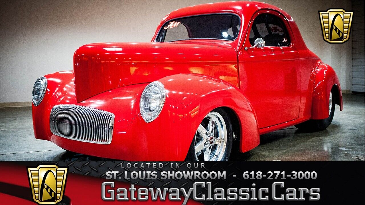 1940 Willys Coupe  Red 1940 Willys Coupe Coupe 400 SBC PowerGlide Available Now!
