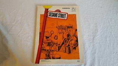 VINTAGE SESAME STREET PIANO VOCALS SONGBOOK VOL 1 1970-72 USA SOFT COVE 19 SONGS