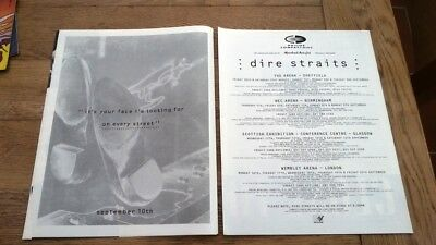 DIRE STRAITS On Every Street Tour 1991/92 UK Press ADVERT 12x10 inches