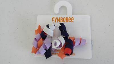 GYMBOREE Fairy Tale Forest Barrette Plastic Hair Clip Curly Ribbons Purple NEW