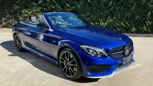2016 Mercedes-Benz C-Class A205 C43 AMG 9G-Tronic 4MATIC Blue 9 Speed Sports Automatic Cabriolet