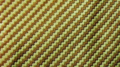 Charvet lieu vendôme made in france or marron rayure cravate soie hfe2120