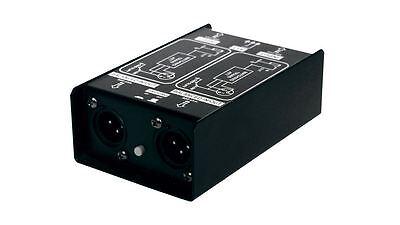 SM Pro Audio DJDI 2-Channel Direct Box - DJ DI Stereo Passive