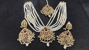 Indian pakistani Gyny ladies Bollywood collection necklace set